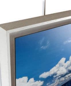 U-frame voor het inlijsten van platen Dibond, Acryl, Forex en objecten